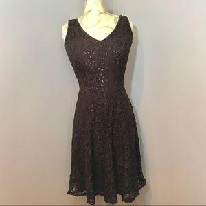 Zokai brown lace dress. Size medium